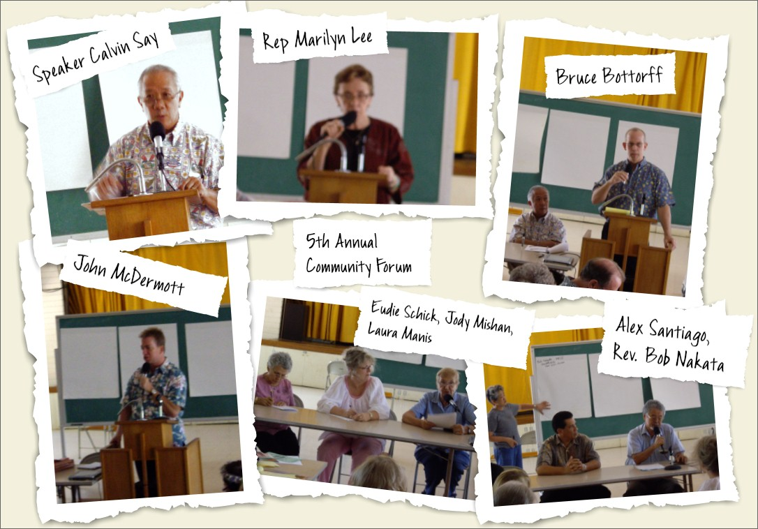 5th Community Forum speakers
