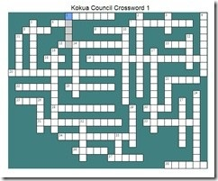 Kokua Council Crossword 1