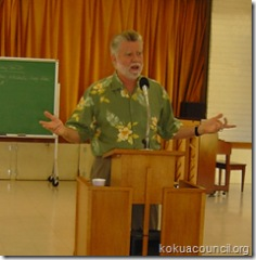 Doug Carlson at Kokua Council
